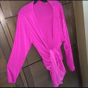 Plus Sz Cardigan Sweater 2X Pink